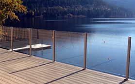 Glass Railings Installed by the Lake